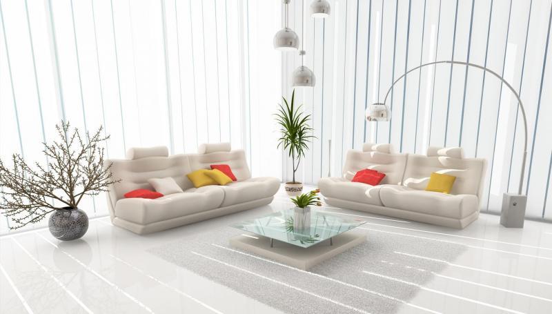 Белый цвет в дизайне гостиной - фото 5