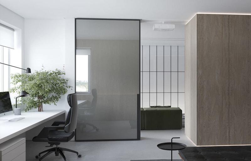 Декоративные перегородки для объединенных комнат 1