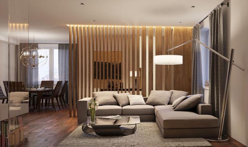 Декоративные перегородки для объединенных комнат 3