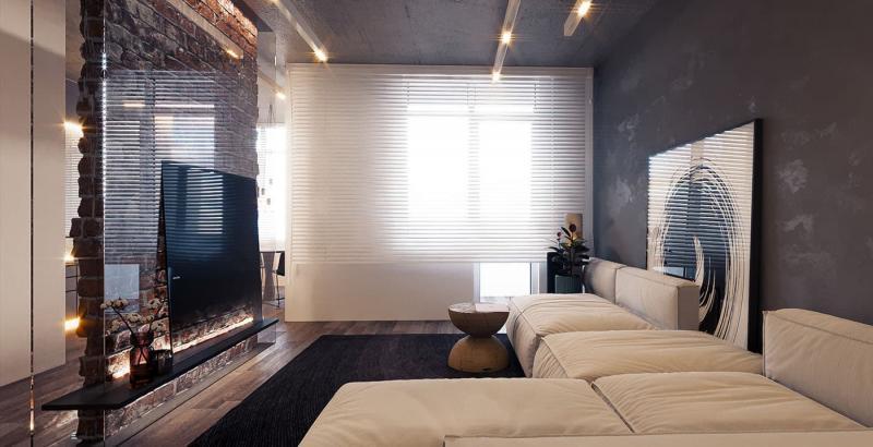 Декоративные перегородки для объединенных комнат 9
