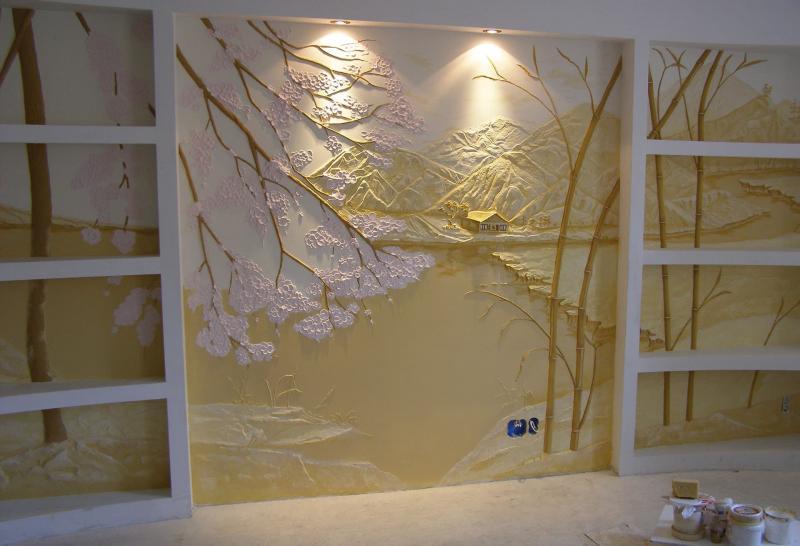 Декоративные рельефы в интерьере 2