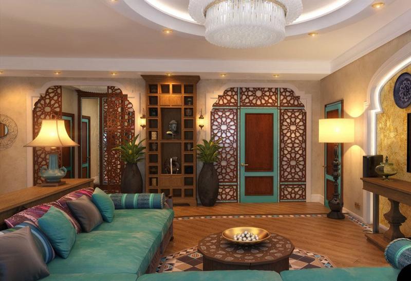 Гостиная в этническом стиле 4