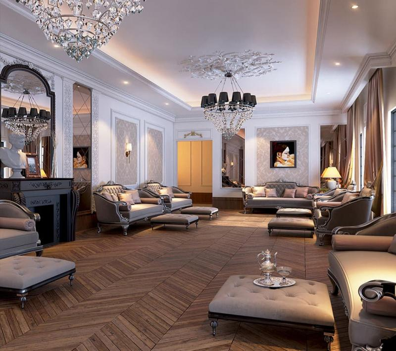 Гостиная в классическом стиле 12