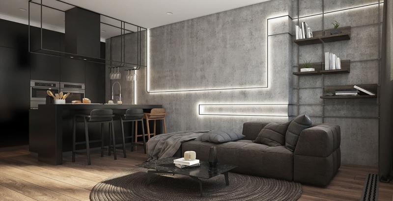 Гостиная в современном стиле 10