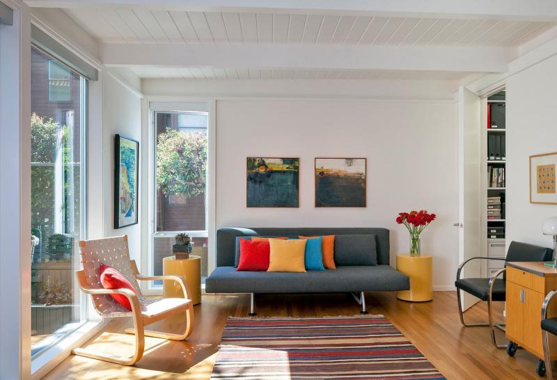Гостиная в стиле средиземноморский минимализм 2
