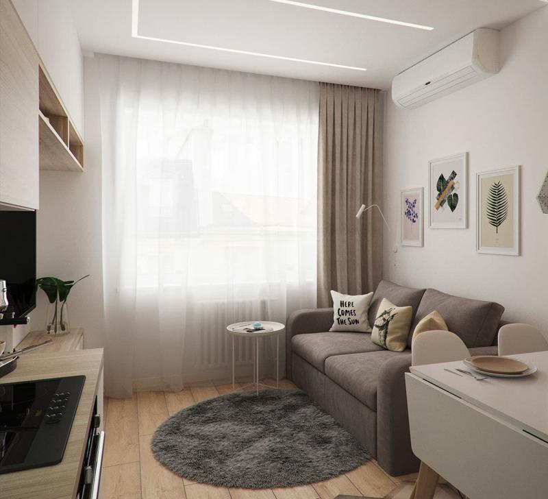 Интерьер маленькой гостиной 2