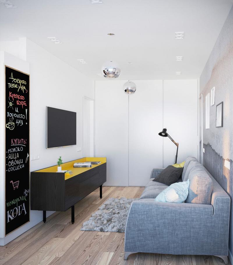 Интерьер маленькой гостиной 4