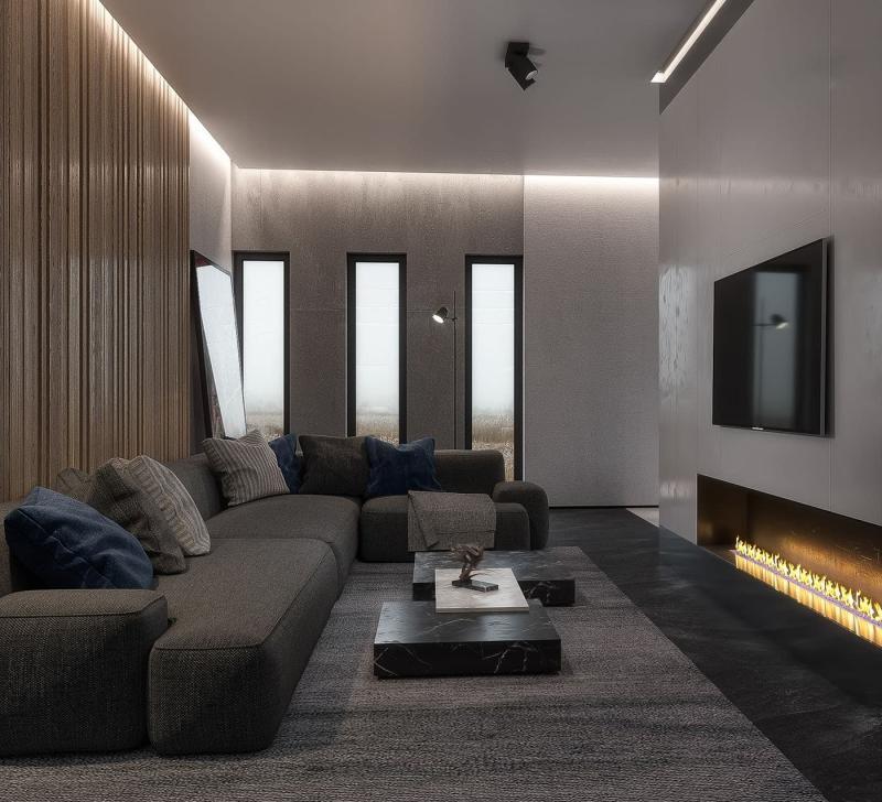 Камин в гостиной 3