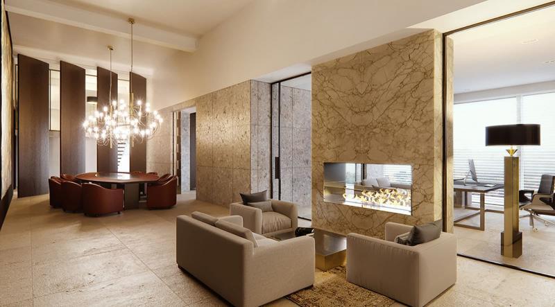 Камин в гостиной 8