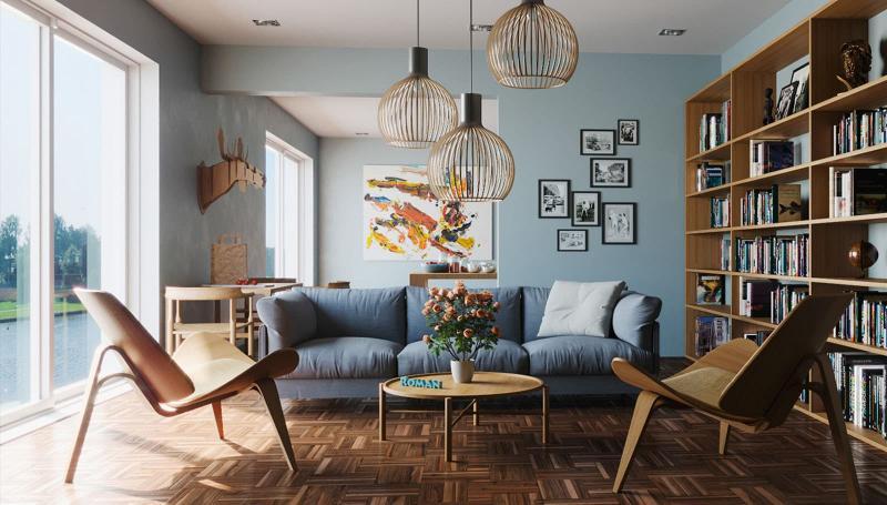 Небольшие диваны в интерьер гостиной 11