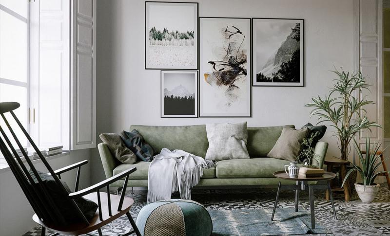 Небольшие диваны в интерьер гостиной 12