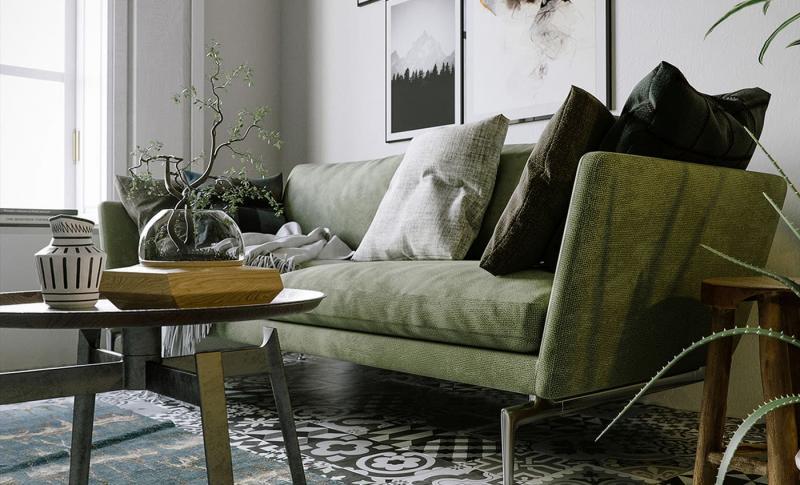 Небольшие диваны в интерьер гостиной 4