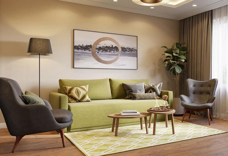 Небольшие диваны в интерьер гостиной 5
