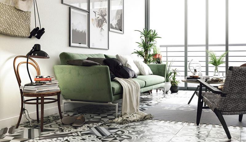 Небольшие диваны в интерьер гостиной 6