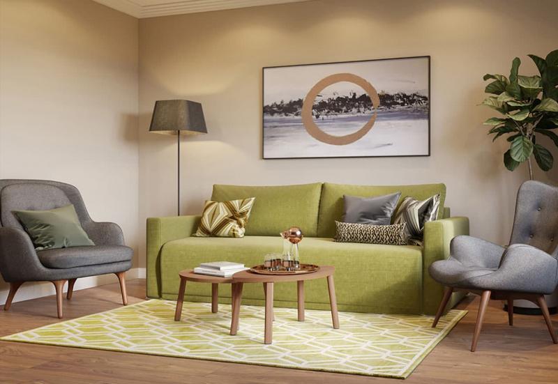 Небольшие диваны в интерьер гостиной 7