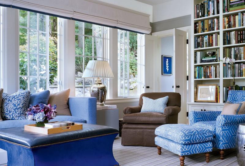 Оттенок Air Blue в дизайне гостиной 3