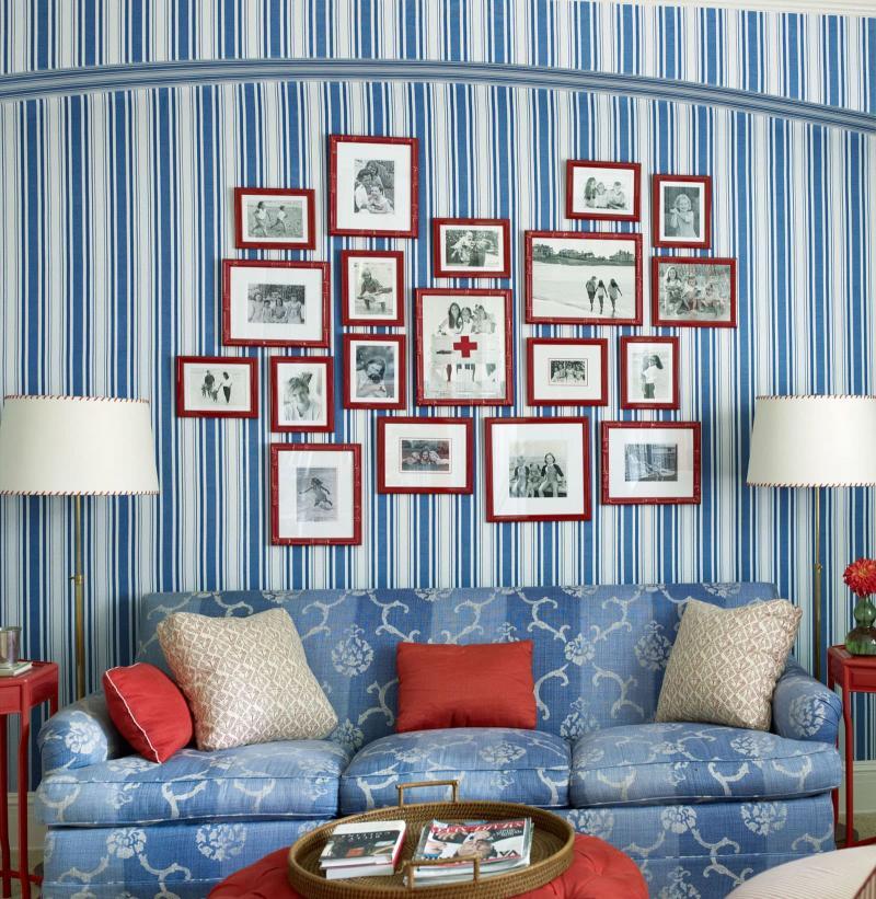 Оттенок Air Blue в дизайне гостиной 4