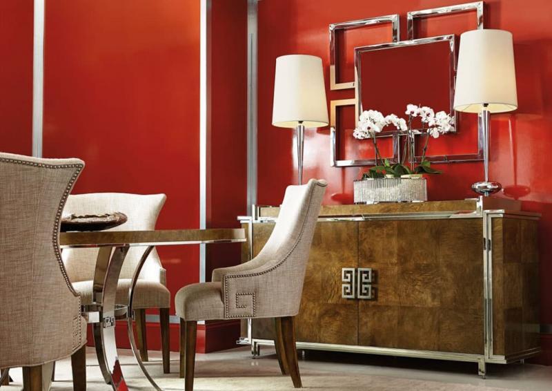 Оттенок Aurora Red в интерьере гостиной 1