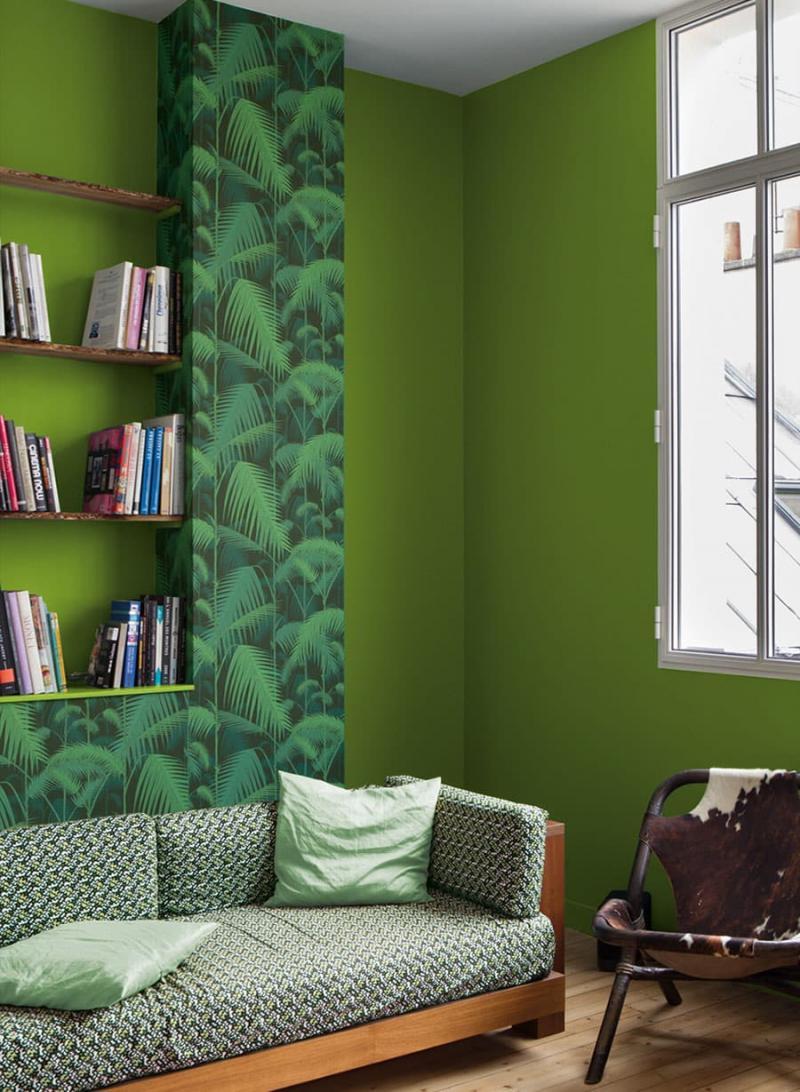 Оттенок Greenery в дизайне гостиной - фото 2