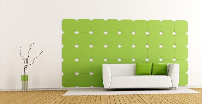 Оттенок Greenery в дизайне гостиной - фото 7