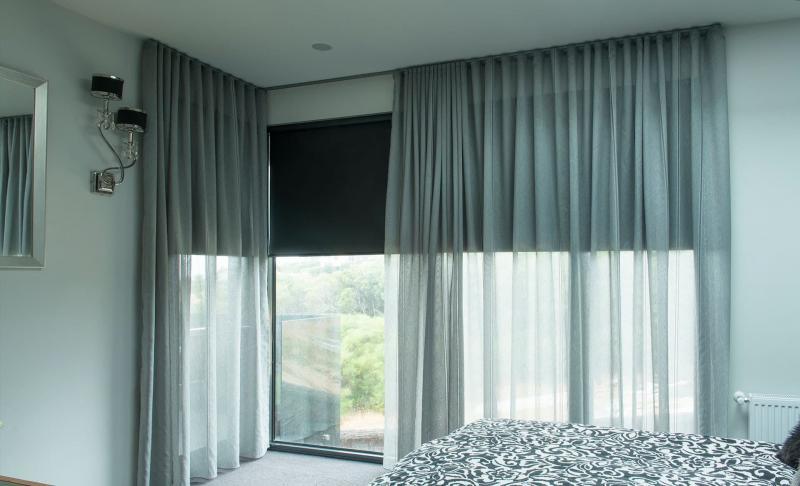 Шторы из полупрозрачной ткани пастельных тонов - фото 1