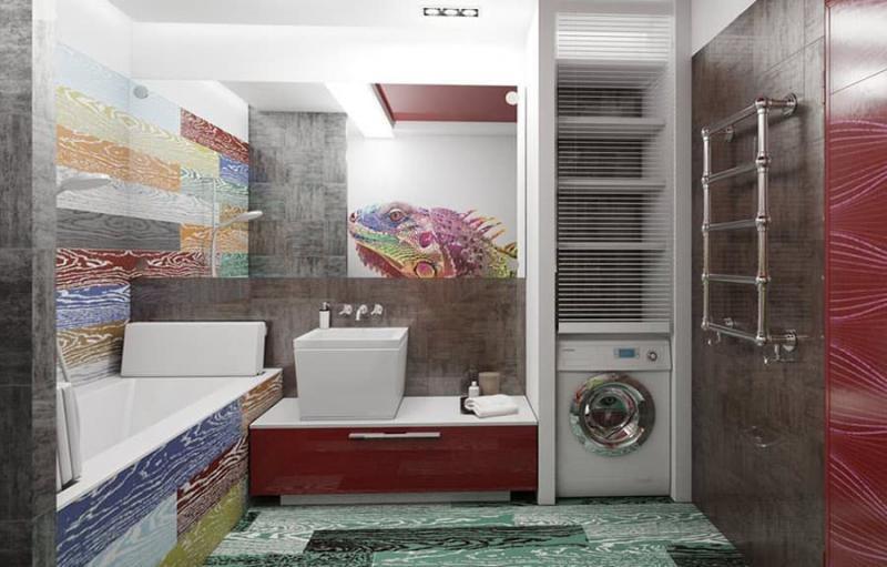 Дизайн ванной 6-7 кв.м 1