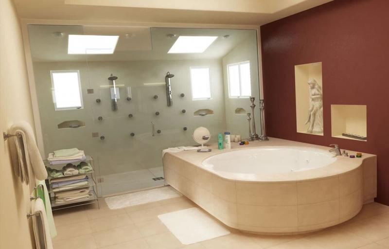 Дизайн ванной 6-7 кв.м 7