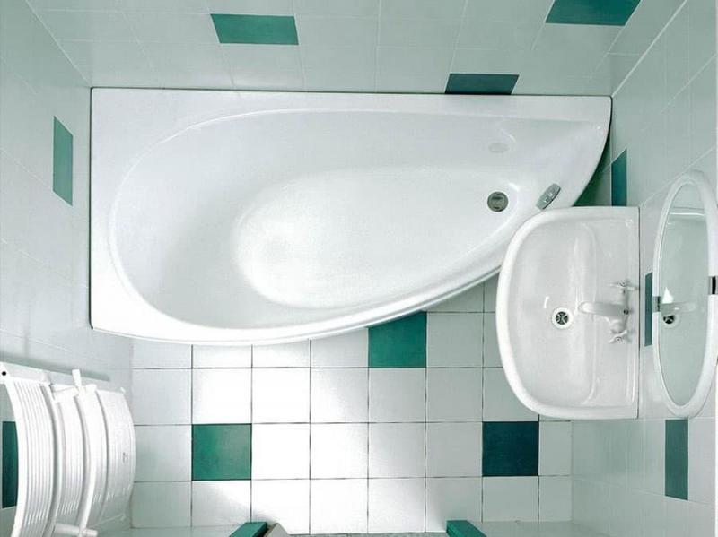 Дизайн ванной комнаты 2 кв. м 3