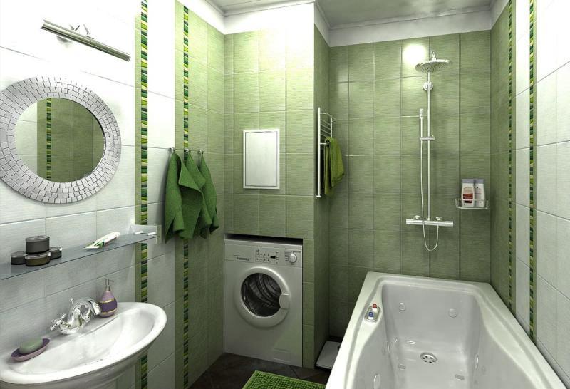 Дизайн ванной комнаты 4 кв.м 1