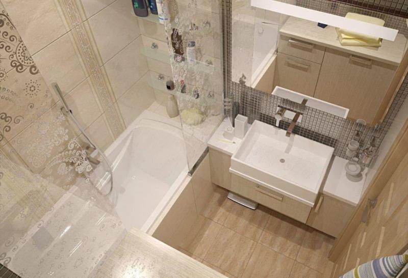 Дизайн ванной комнаты 4 кв.м 3