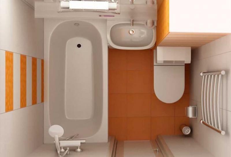 Дизайн ванной комнаты 4 кв.м 5
