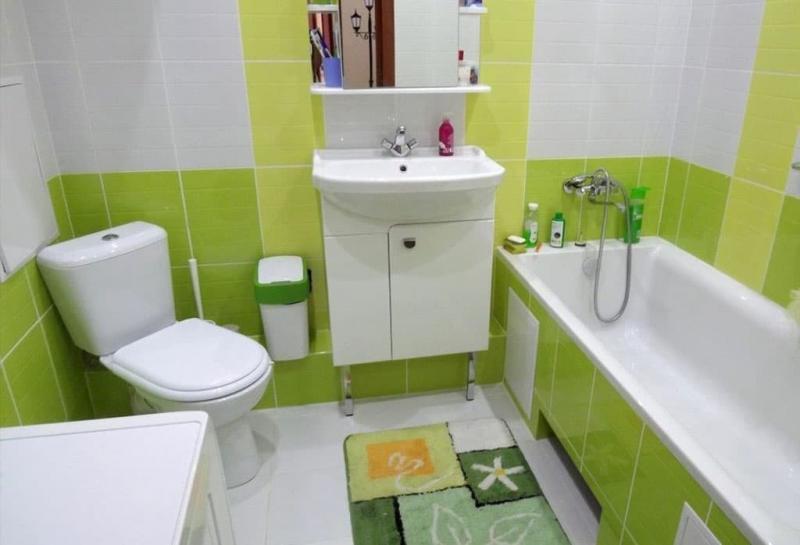 Дизайн ванной комнаты 4 кв.м 6