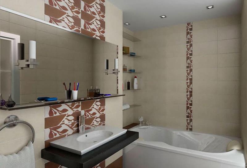 Дизайн ванной комнаты 4 кв.м 7