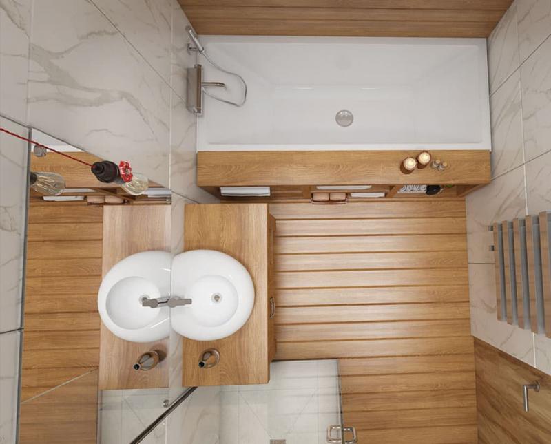 Дизайн ванной комнаты 5 кв.м 1