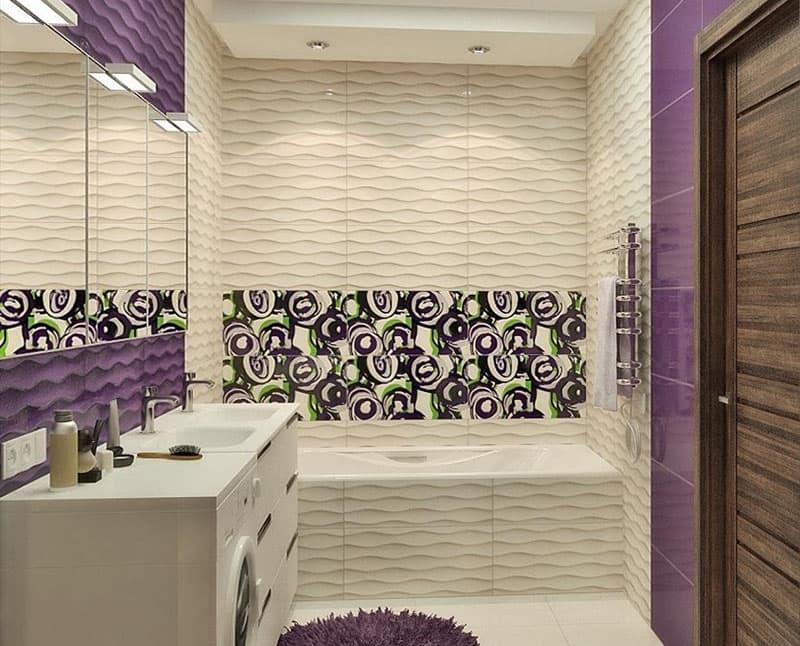 Дизайн ванной комнаты 5 кв.м 3