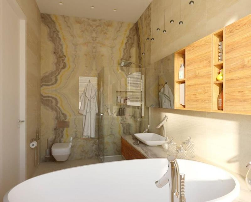 Дизайн ванной комнаты 5 кв.м 4