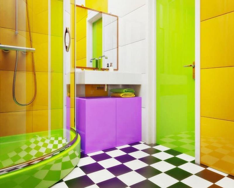 Дизайн ванной комнаты 5 кв.м 7