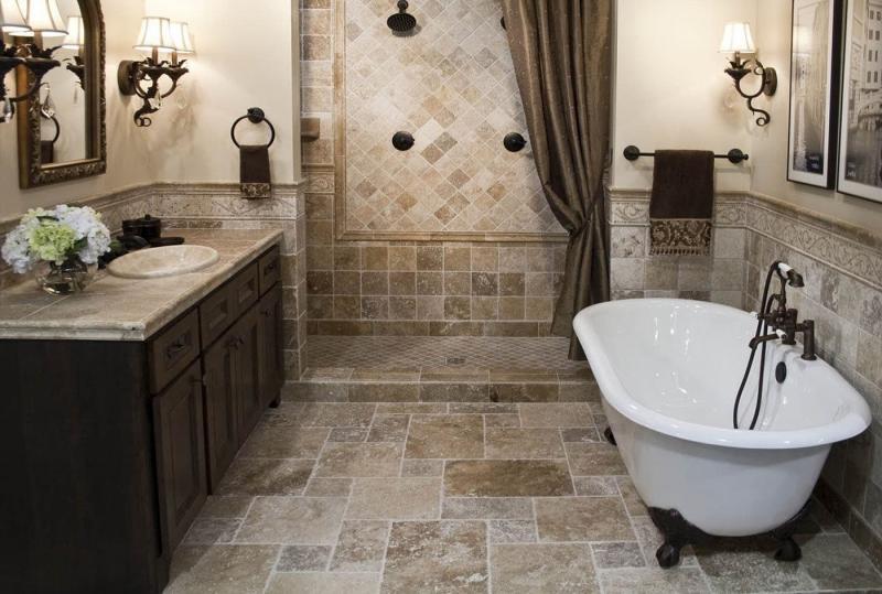 Интерьер ванной без туалета 2