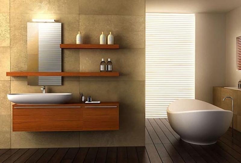 Интерьер ванной без туалета 3