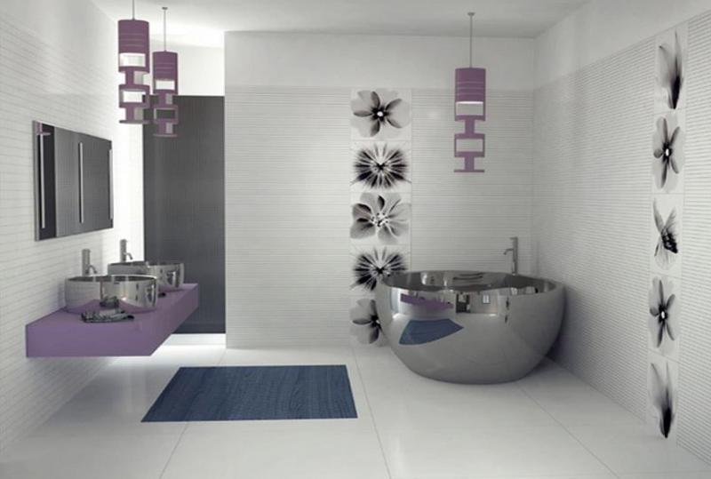 Интерьер ванной комнаты без туалета 4