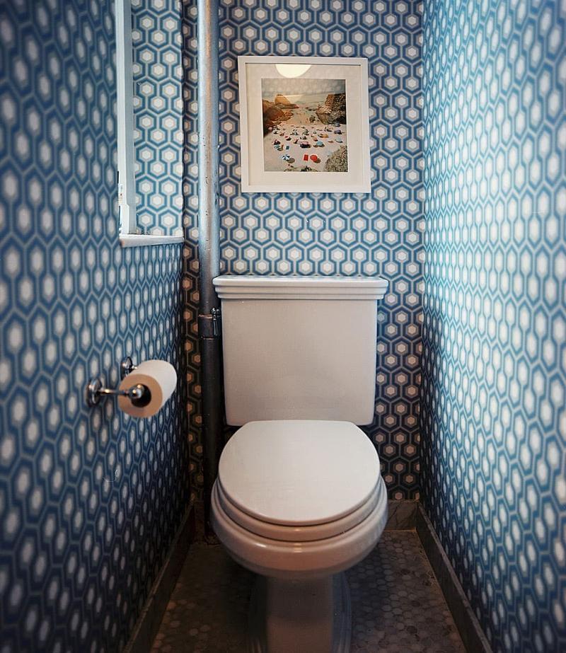 Обои в интерьере туалета 1
