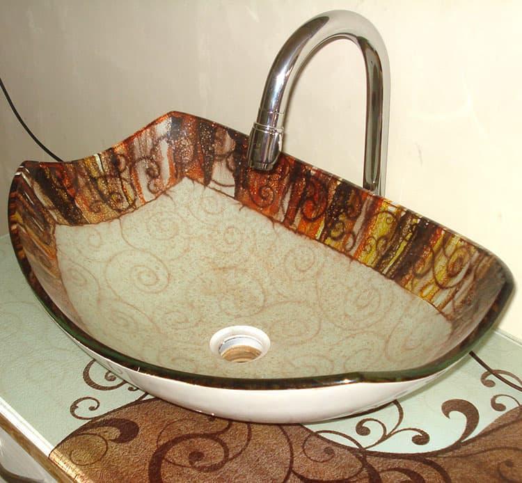 Раковина в интерьере ванной 2017 9
