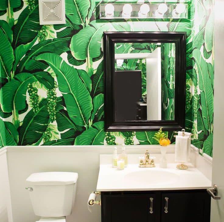 Самоклеящаяся пленка в интерьере ванной комнаты