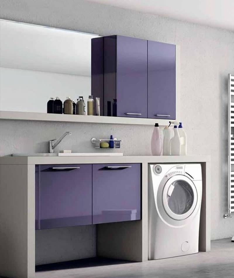 Стиральная машинка в интерьере ванной 6