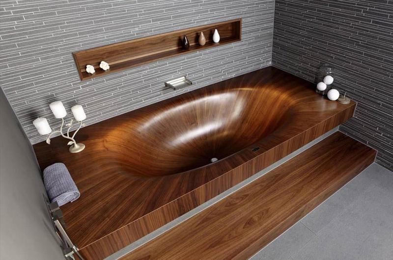 Ванная из эко-материалов 6