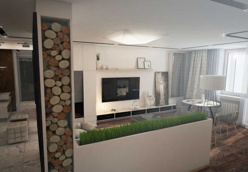 Интерьер квартиры-студии 10