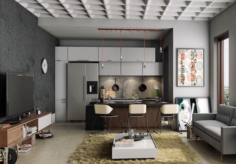 Интерьер квартиры-студии 5
