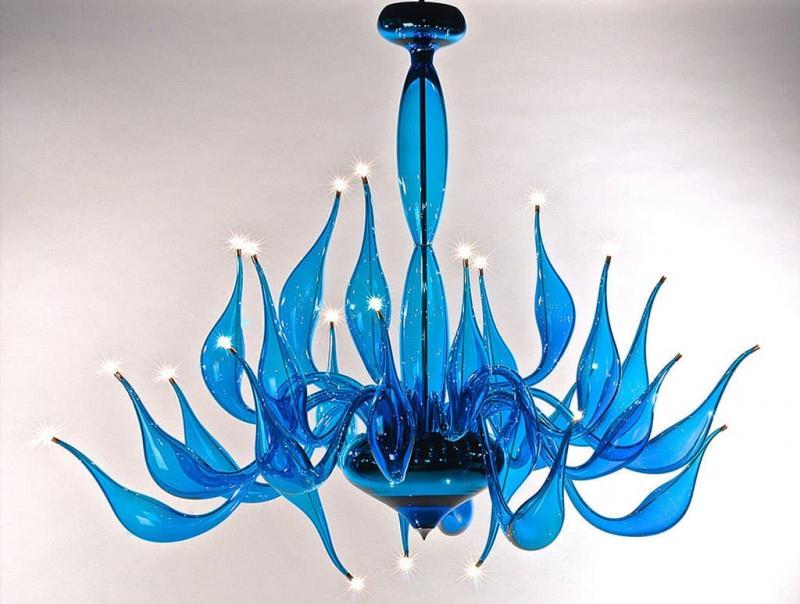 Необычные светильники из стекла 3