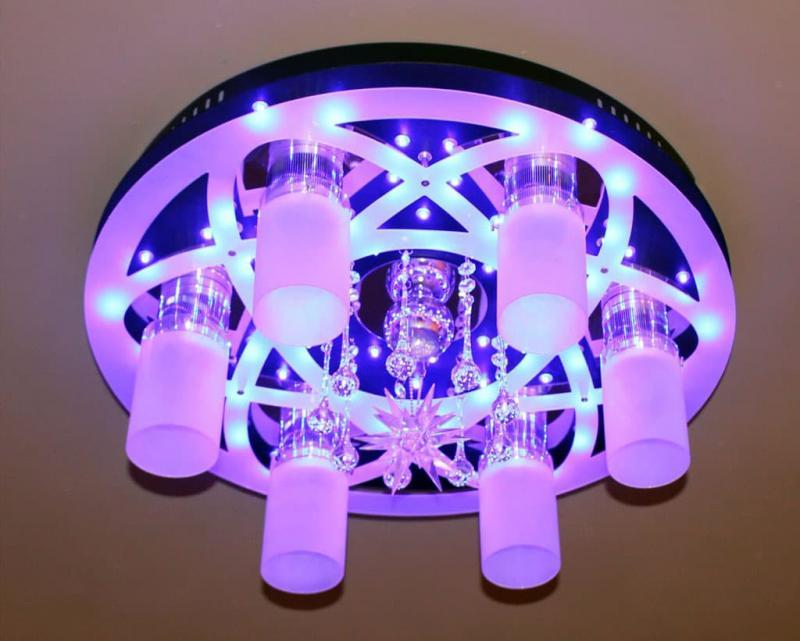 Необычные светильники из стекла 5