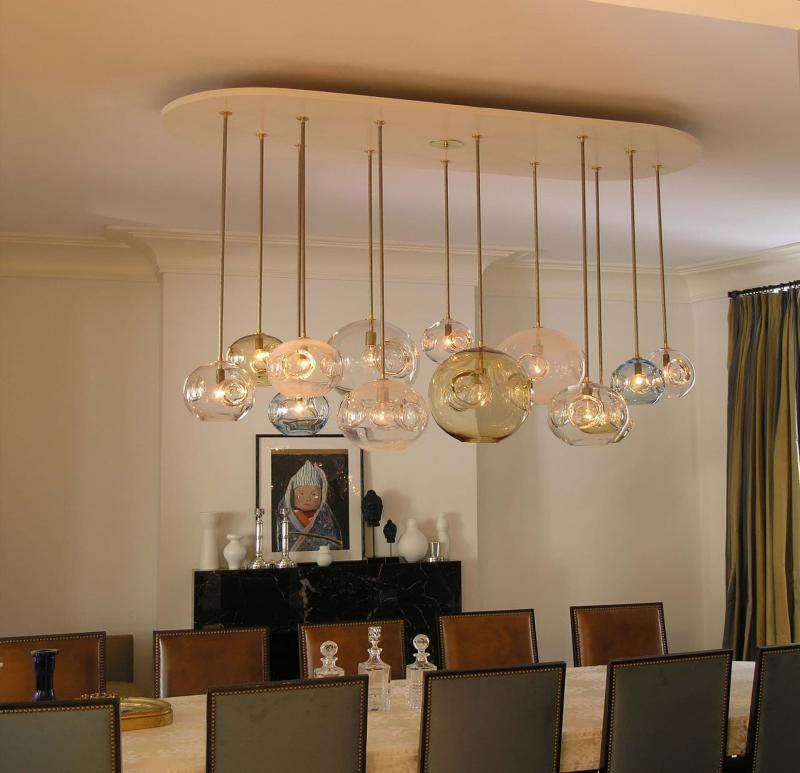 Необычные светильники из стекла 8